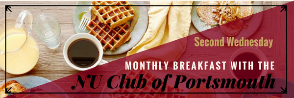 Portsmouth Monthly Breakfast Graphic with date
