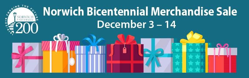 Bicentennial Merchandise Holiday Sale Logo