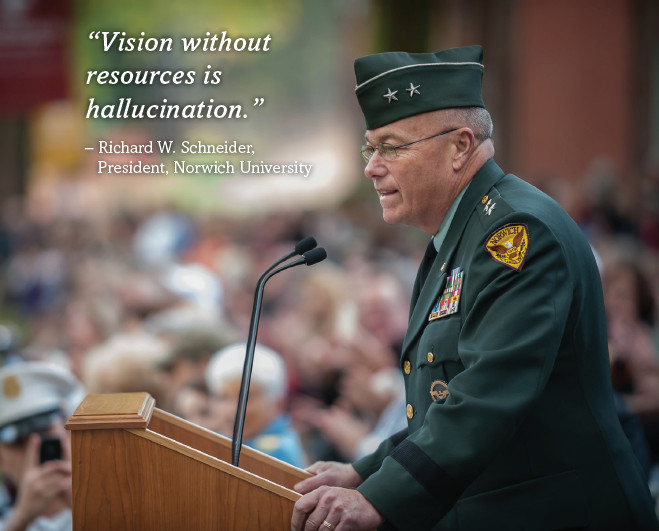 """""""Vision without resources is hallucination."""""""