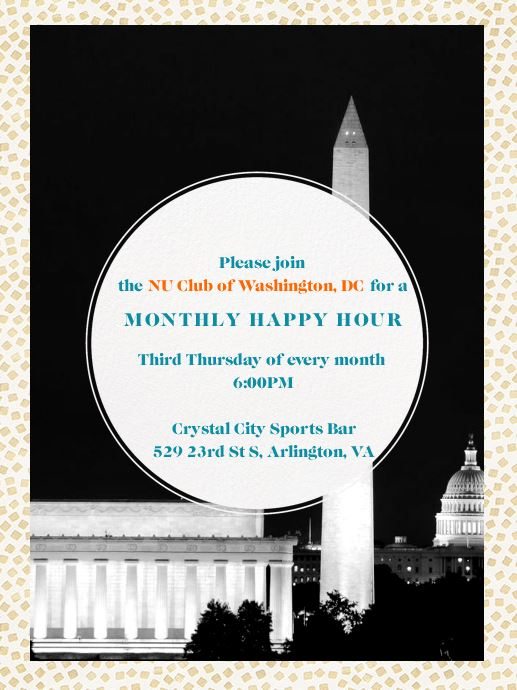 NU Club Of Washington DC Monthly Happy Hour Norwich University