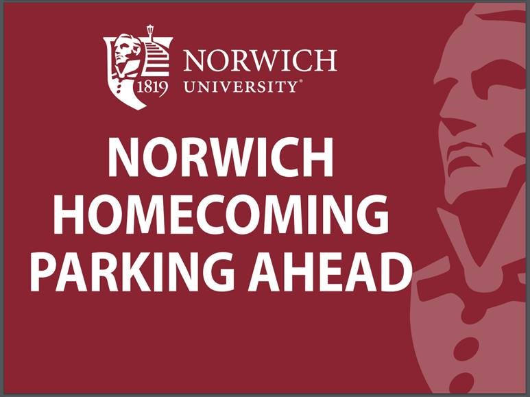 Norwich Homecoming Parking Ahead