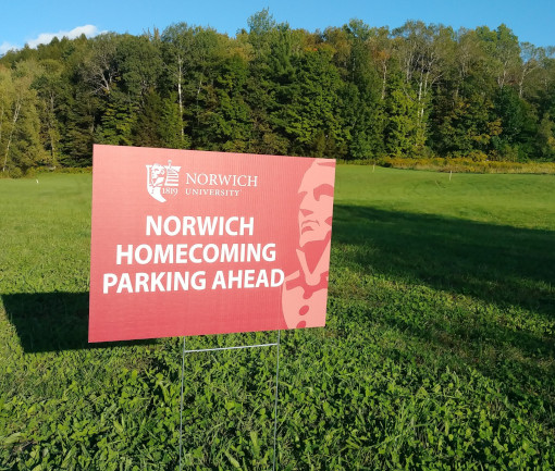 Norwich Homecoming Parking Sign