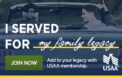 USAA I served for you logo