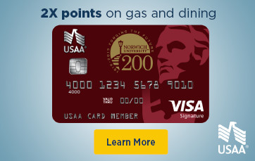 2x Points on gas and dining USAA NUAA Visa