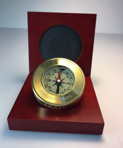 compass with mahogany box