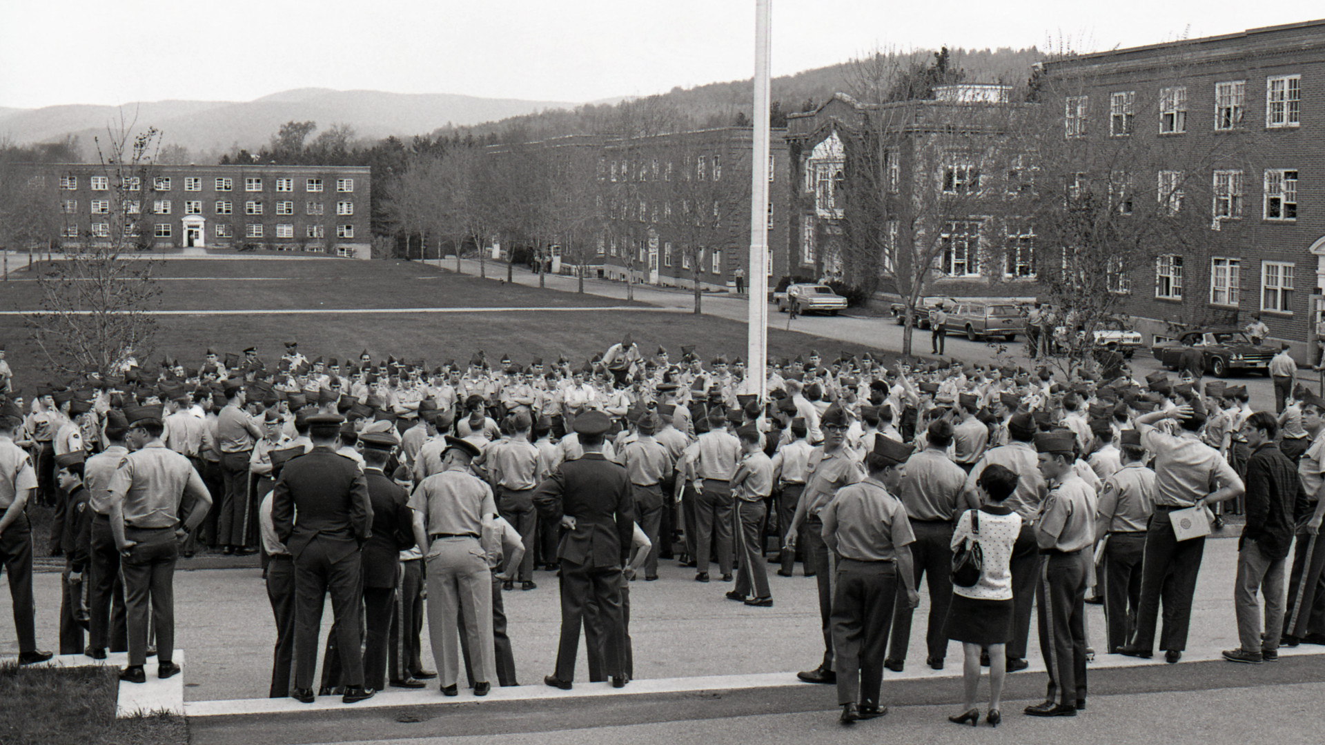 Class of 1970 - Upper Parade Ground - from Jackman Hall